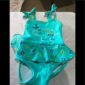 Baby girls elephant swimsuit size 6-12 months